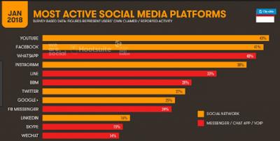 data pengguna media sosial