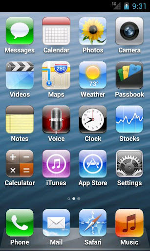 iphone interface on android