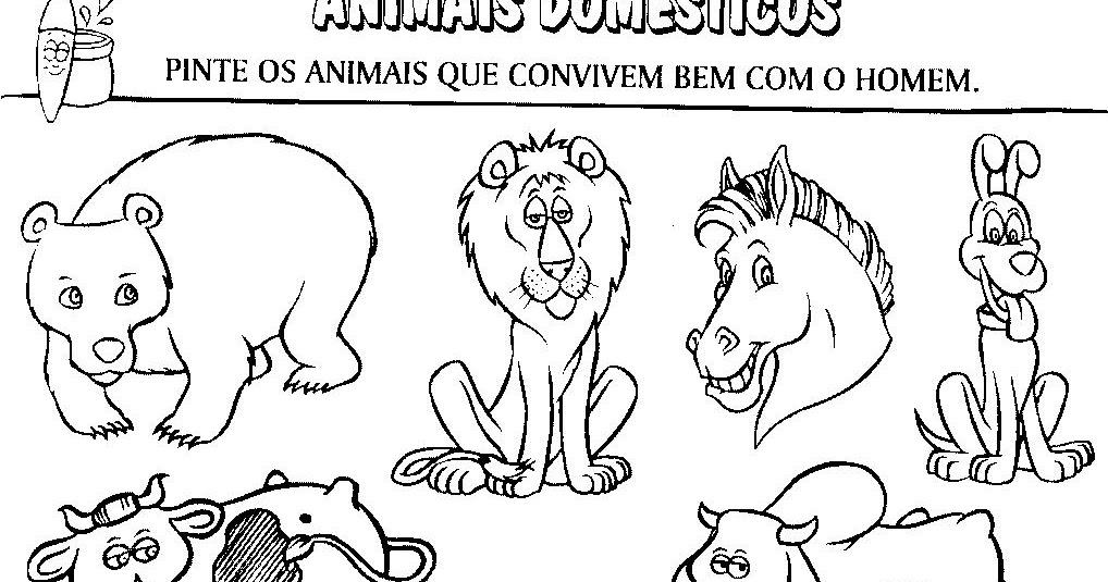 Desenho De Animais Do Zoológico Reunidos Para Colorir: Imagens De Animais Para Imprimir