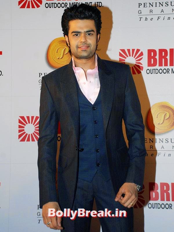 Manish Paul, Ranbir, Hrithik at Bright awards 2014