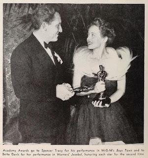 Bette Davis Spencer Tracy 1939 Oscars