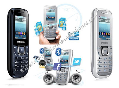 Samsung E1282T Dual Sim Cameraless GPRS Features Phone Images.
