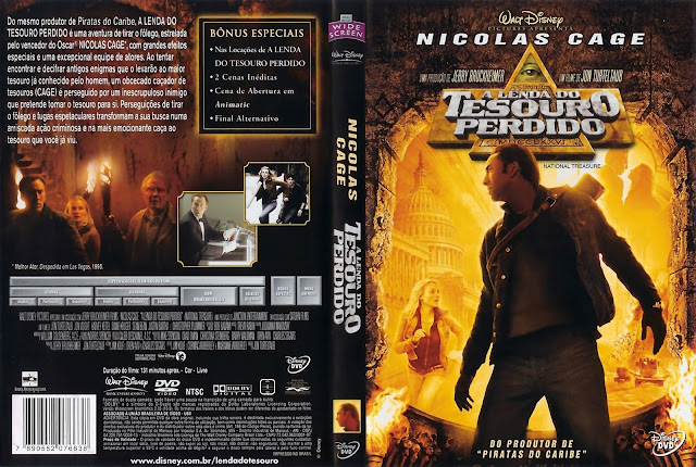 Capa DVD A Lenda do Tesouro Perdido