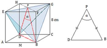 Tangen sudut antara bidang DEG dan BEG pada kubus ABCD.EFGH