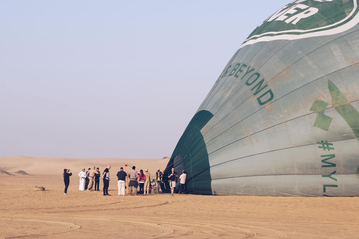 hot air balloon experience in Dubai