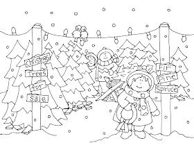 Free Dearie Dolls Digi Stamps: Christmas Tree Lot
