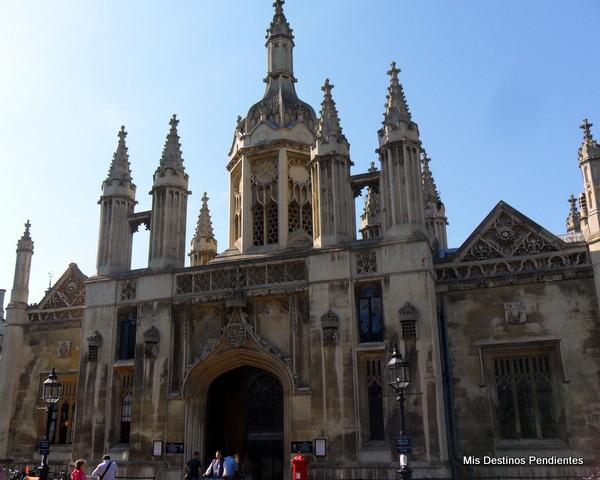 Fachada Principal del King's College (Cambridge, Inglaterra)