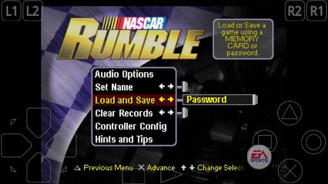 cara membuka semua mobil nascra rumble ps1