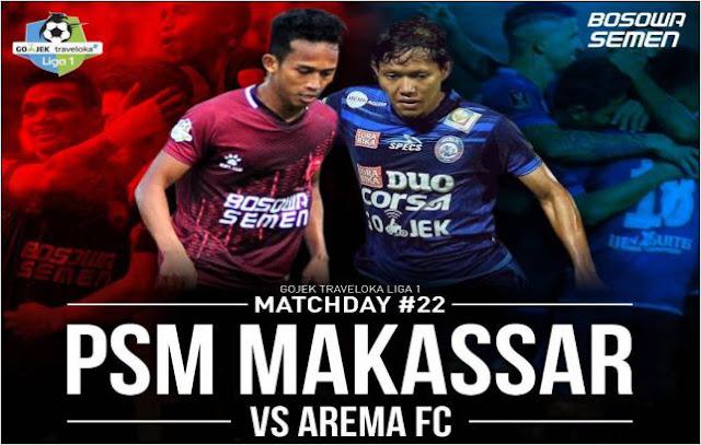 PSM Makassar, Arema FC, BOla, Sport, BONEPOS