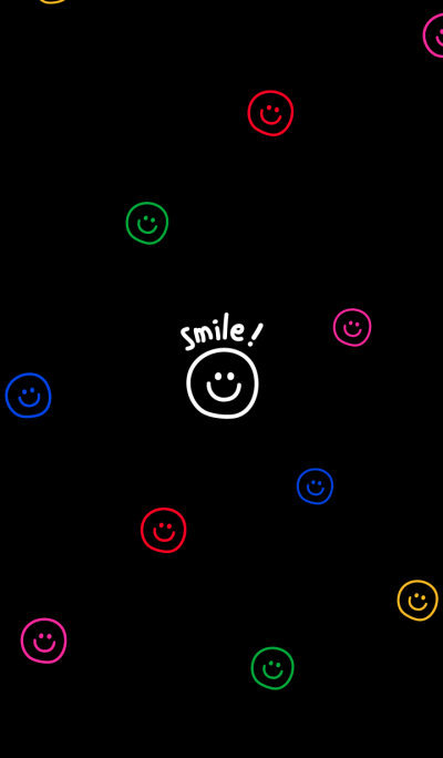 colorful smiling faces (black)