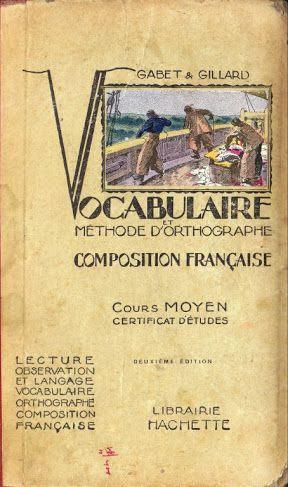 manuels anciens gabet gillard vocabulaire et m thode d 39 orthographe cm grandes images. Black Bedroom Furniture Sets. Home Design Ideas