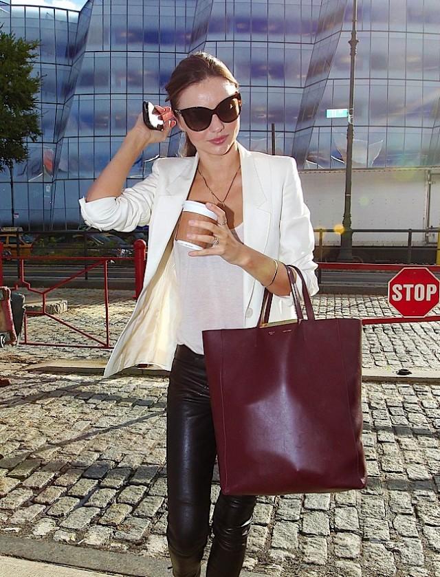 celine pink leather handbag cabas phantom