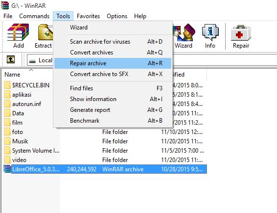Recovery Memperbaiki File Rar Yang Rusak Error 404 Not Found