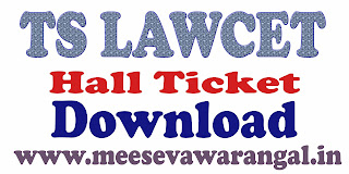 TS LAWCET Exam Hall Ticket 2017 Download