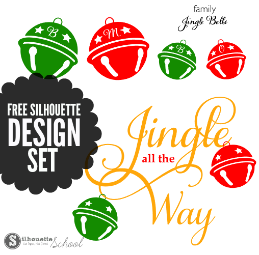 jingle bells, silhouette designs, free silhouette, silhouette cameo, silhouette studio files, silhouette cut files, christmas cut files