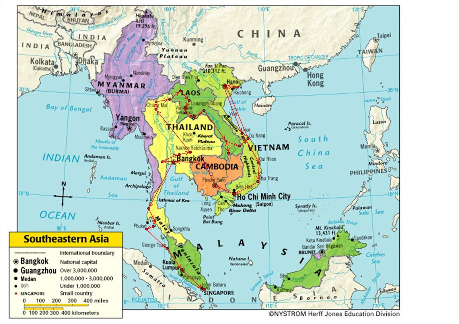 Karte Von Asien Region Provinz Sudostasien Land Karte Bilder