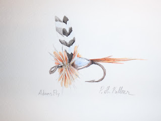 Pat Kellner, P. H. Kellner, Fishing Art, Fly Fishing Art, Texas Freshwater Fly Fishing, TFFF, Fly Fishing Texas, Texas Fly Fishing, Adams Fly