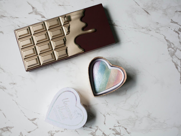 Beauty: I Heart Makeup Chocolate palette and Unicorn Hearts higlighter review