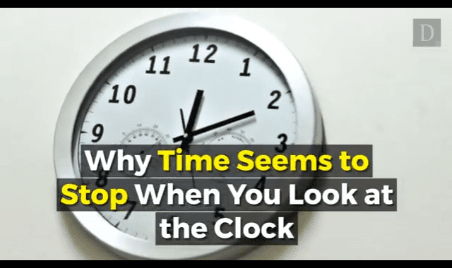 When Time Seems To Stop