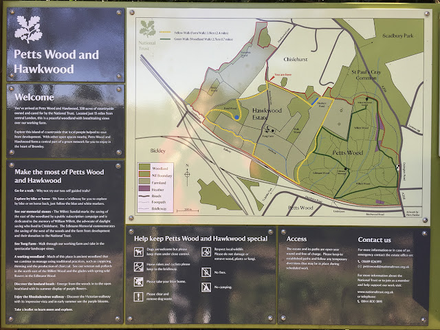 Information board.  Walk round the Hawkwood Estate 30, 30 August 2016