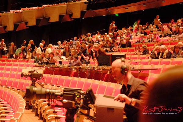 Preview crowd and media, Chroma, Sydney opera House Dame Joan Sutherland Hall. Photography by Kent Johnson.