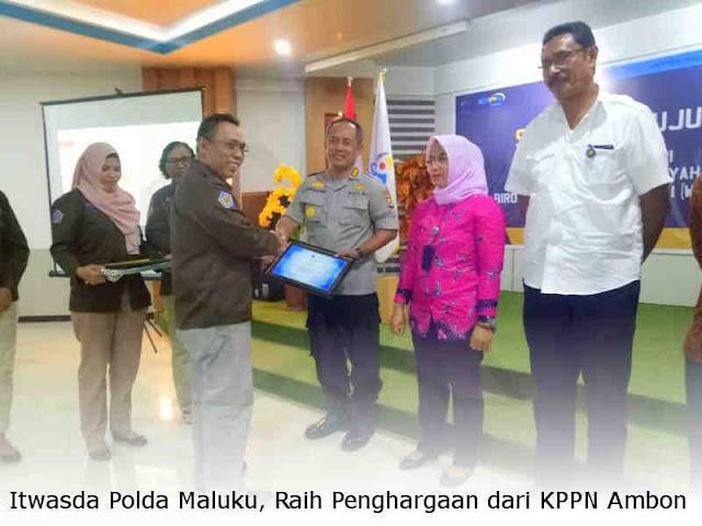 Inspektorat Pengawasan Daerah (Itwasda) Polda Maluku, Raih Penghargaan dari KPPN Ambon