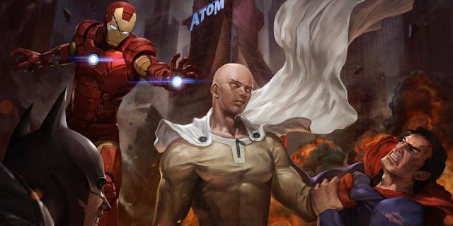 Saitama One Punch Man Melawan Superhero Marvel dan DC