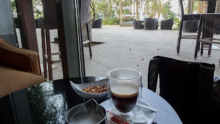 Drinking Coffee beside Islote Horacio