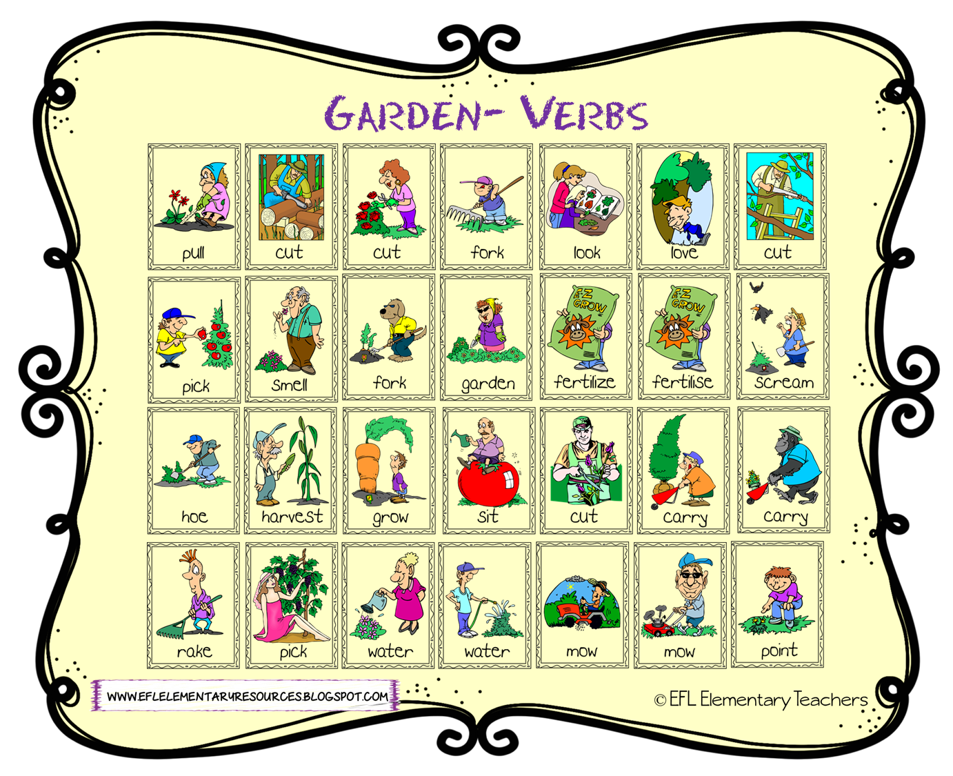 Efl Elementary Teachers Nature Or Garden Theme For