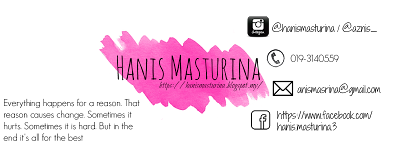 3 days Giveaway by Hanis Masturina