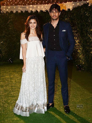 Alia Bhatt and Siddharth in the Reception of Trishya and Suhail