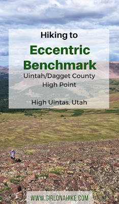 Hiking to Eccentric Benchmark, Uintah/Dagget County High Point