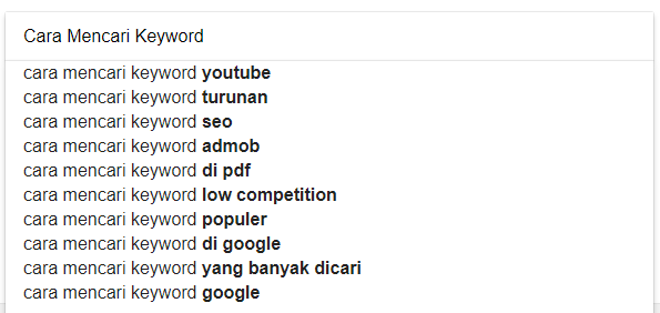 Cara Mengetahui Kata Kunci Atau Keyword Banyak Di Cari Orang Melalui Google Masoga Net