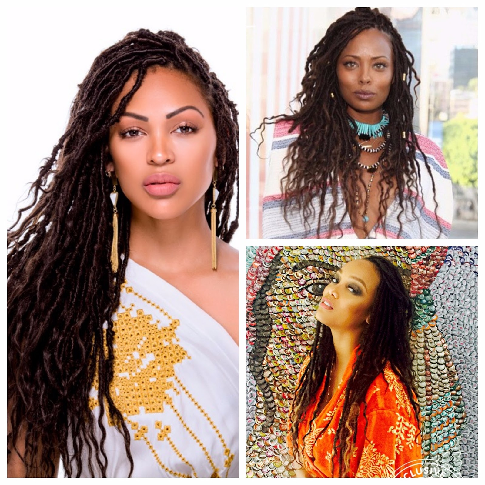 Some Time Last Year I Saw Dess Faux Locs On Megan Good And Got Instant Gotta Have It Syndrome So Went Searching Tyra Banks Eva