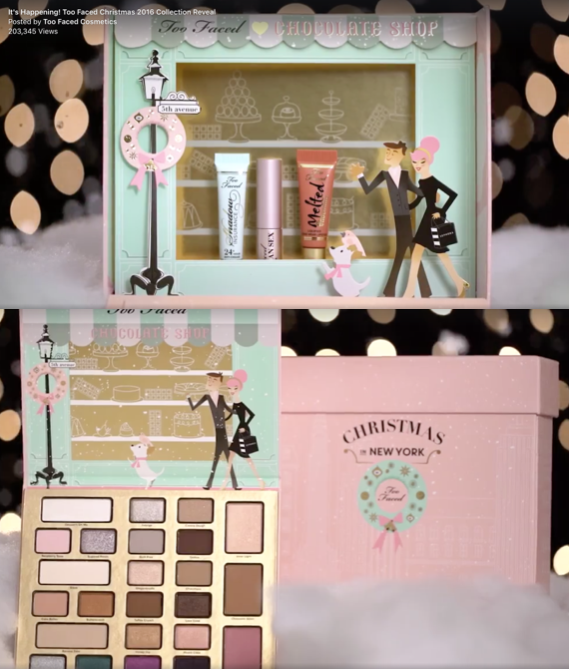 Too Faced Christmas in New York Collection