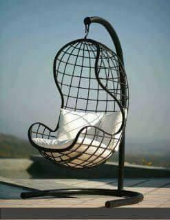 asiento hamaca de hierro