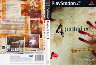 Capa frente fundo Resident Evil 4 Cheat Edition PS2 2006 ps2