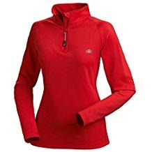 Nordcap Damenfunktionsshirt, Thermo-Sweatshirt mit Stretch in Rot, für Sport & Outdoor-Aktivitäten, Damen Langarm-Shirt (Größe: 39 - 46)