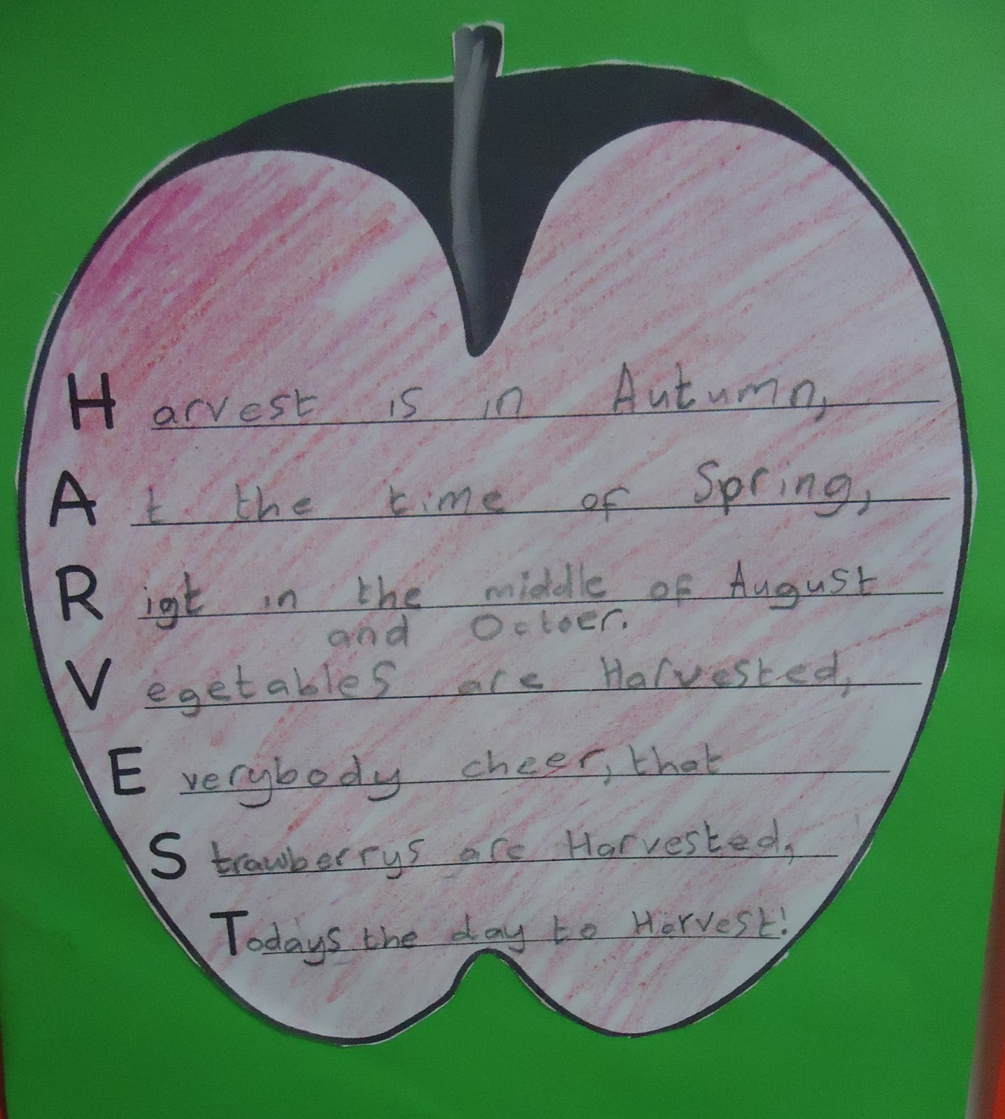 Acrostic Poems For Thanksgiving