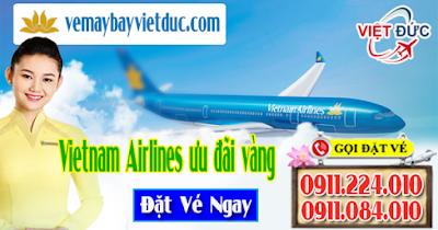 đặt mua vé máy bay Vietnam Airlines ưu đãi vàng giá chỉ từ 299.000 đồng