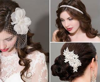 Phụ kiện cài tóc cô dâu sang trọng, quý phái 1