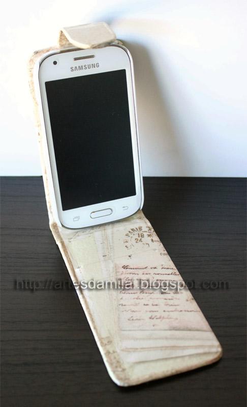 reciclagem de capa de telemóvel
