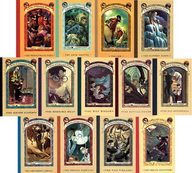 Livros Desventuras em Série de Lemony Snicket