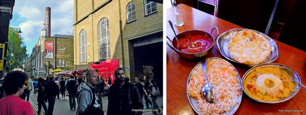 Londres - restaurante Nazrul em Brick Lane