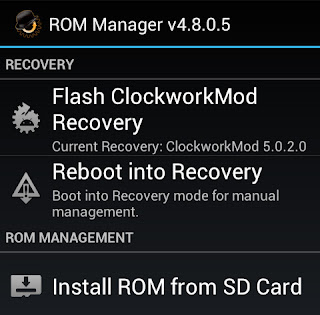 Download Aplikasi Hp android ROM Manager(Root)