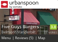 Five Guys Burgers and Fries on Urbanspoon