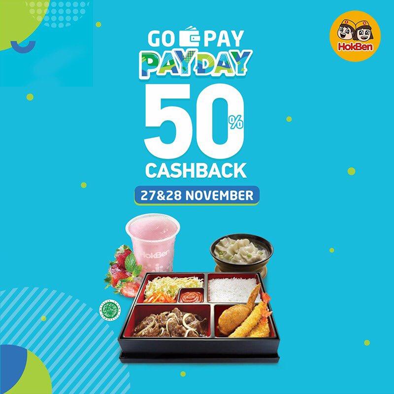 Hokben - Promo Cashback 50% Pakai GOPAY PAYDAY (s.d 28 Nov 2018)