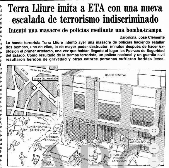 Terra lliure imita a ETA con una nueva escalada de terrorismo indiscriminado.