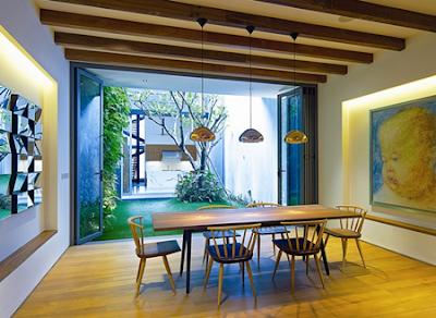 desain ruang makan indah bernuansa romantis