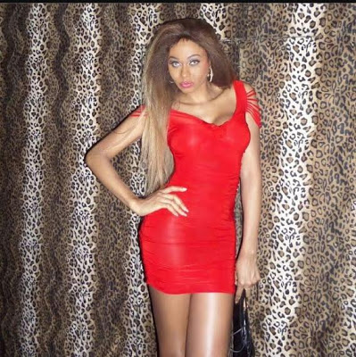 Photos: Nigerian transgender, Miss SaHHara stuns in red